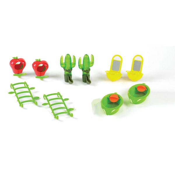 Pack déco cage et jouets perruches 10 pièces 277131