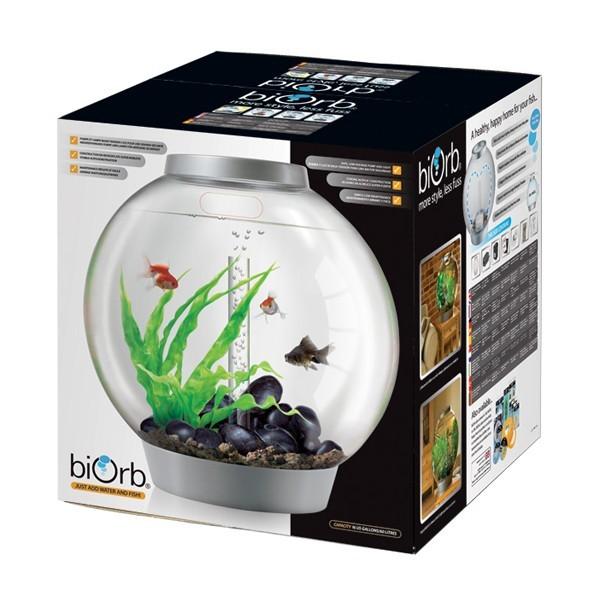 Aquarium BiOrb 60 L silver LED Multi Couleur Télécommandé 277147