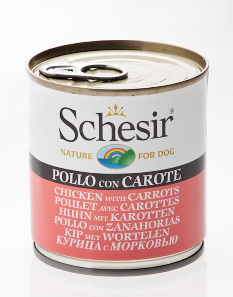 Boîte Chien - Schesir® Pâtée de Poulet et Carottes en Gelée - 285g 280829