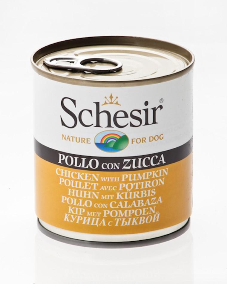 Boîte Chien - Schesir® Pâtée de Poulet et Potiron en Gelée - 285g 280831