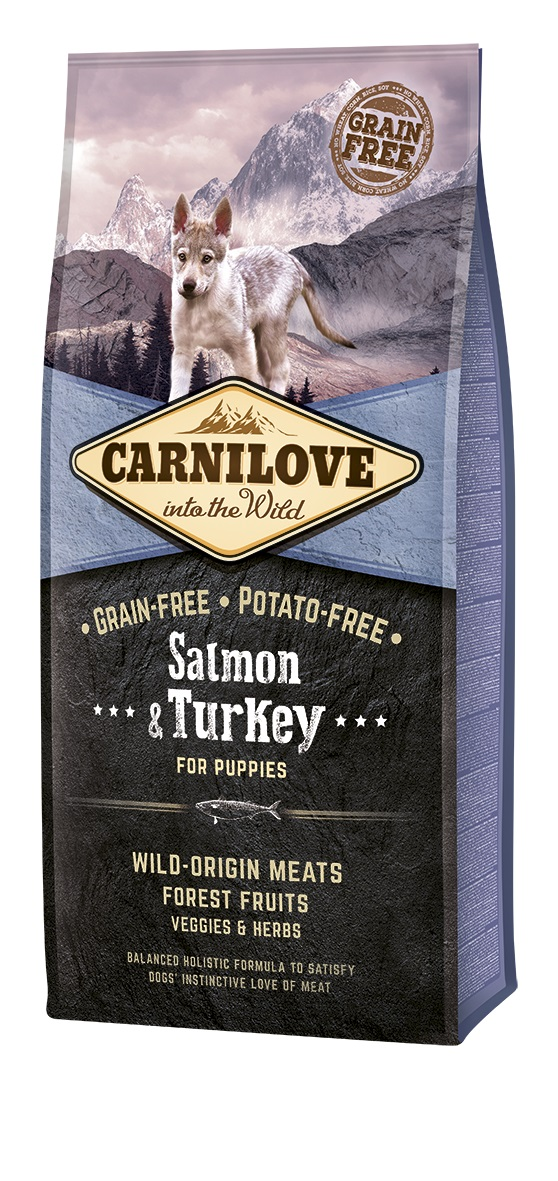 Croquettes Chiot - Carnilove Salmon & Turkey Puppy 12kg 280989