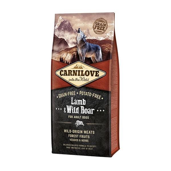 Croquettes Chien Audlte - Carnilove Lamb & Wild Boar 12kg 280991