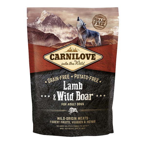 Croquettes Chien Adulte - Carnilove Lamb & Wild Boar 1,5kg 281341