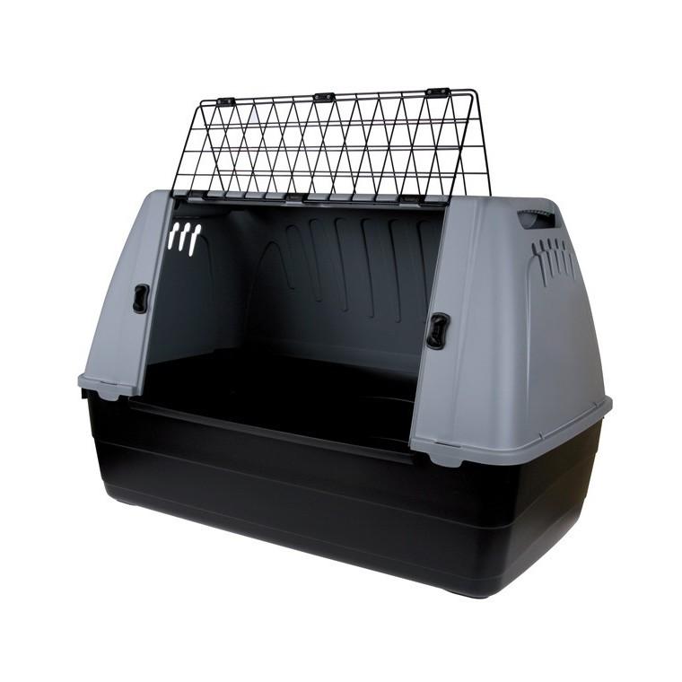 Cage de transport Travel taille M en polypropylène gris 88x51x58 cm 28884