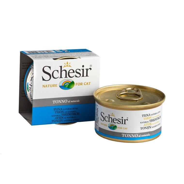 Boîte Chat - Schesir® Pâtée au Thon naturel - 85g 296019