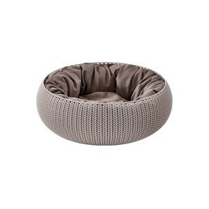 Panier de couchage rond tricot avec coussin 297931