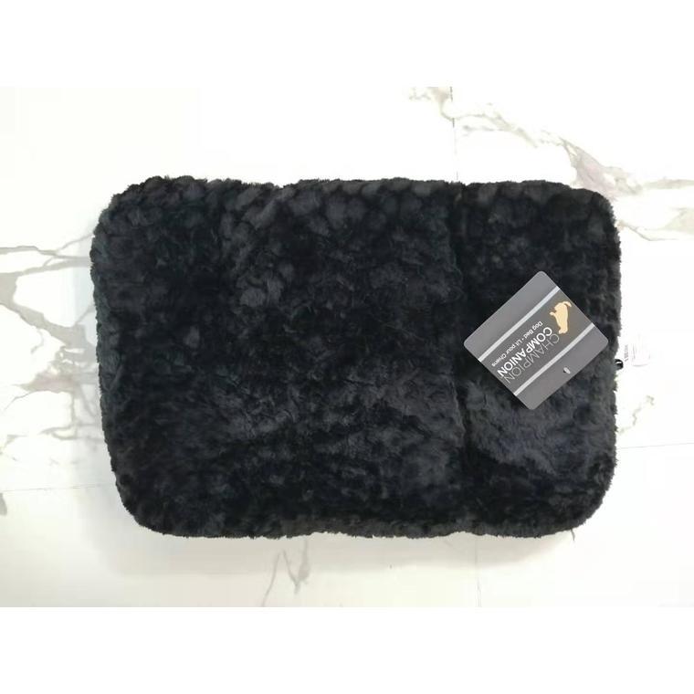 Tapis One Paw Lush Confort noir Taille M - 74 x 45 cm