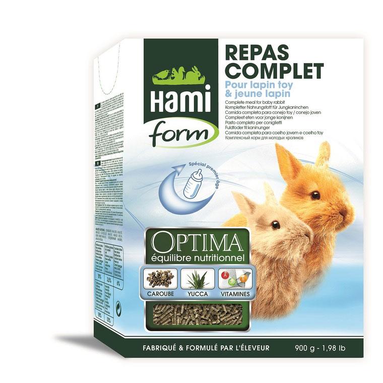 Repas complet lapin toy et jeune lapin Hamiform 1kg