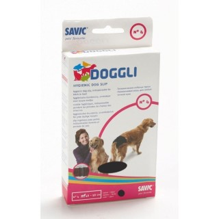Culotte hygiénique t.4 pour chien noire Doggli Savic 31257