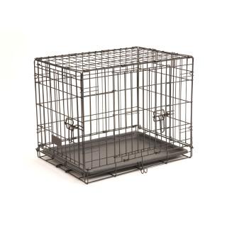 Cage transport 2 portes noir 46cm 330372