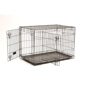 Cage transport 2 portes noir 76cm 330374