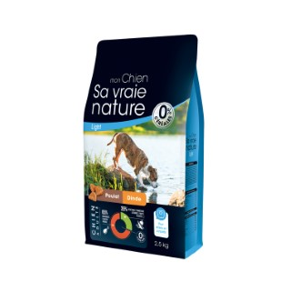 Croquettes Chien -  Sa Vraie Nature adulte poulet dinde saumon light  2,5kg 335706