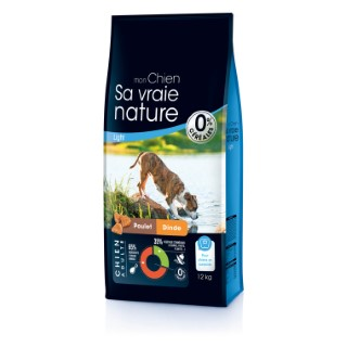 Croquettes Chien - Sa Vraie Nature adulte poulet dinde saumon light 12kg 335707