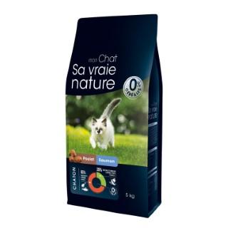 Croquettes Chaton - Sa Vraie Nature chaton poulet saumon 5kg 335711
