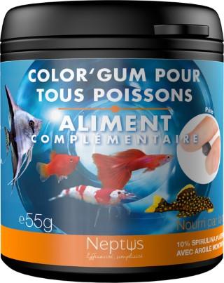 Aliment complémentaire color gum  pour tous poissons 75ml 343007