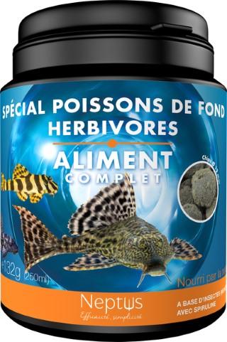 Alim. spécial poissons de fond herbivores 250ml 343011