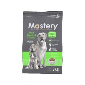 Croquette chien Mastery adulte Light Sterilisé 12kg 367483