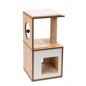 Arbre à chat Vesper V-Box Small Walnut 371208