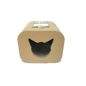 Griffoir pour chat Scratcher Cat head Box 30x30x25 cm 385483