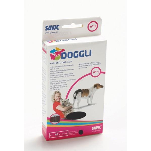 Culotte hygiénique t.1 pour chien noire Doggli Savic 30524
