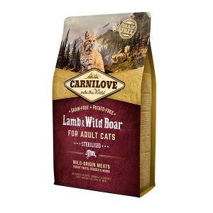 Croquettes chat adult stérilisé - Carnilove Cat Lamb & Wild Boar - 2kg 310371
