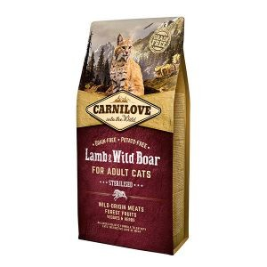 Croquettes chat adult stérilisé - Carnilove Cat Lamb & Wild Boar - 6kg 310372