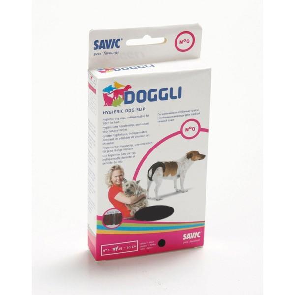 Culotte hygiénique t.0 pour chien noire Doggli Savic 31251