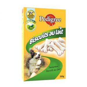 Friandise chien Pedigree biscuits au lait 350g 320099