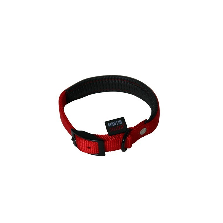 Collier chien confort 25mm / 55cm rouge 323949