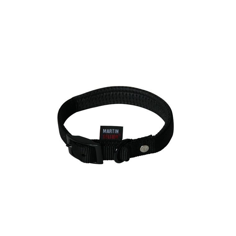 Collier chien confort 25mm / 55cm noir 323951
