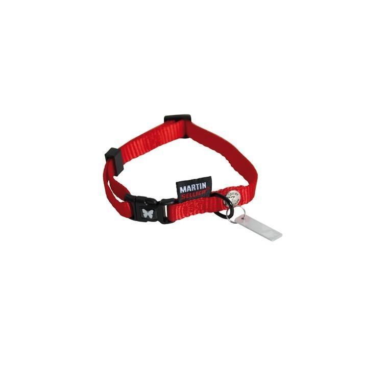 Collier chien réglable 10mm / 25-35cm rouge 323977