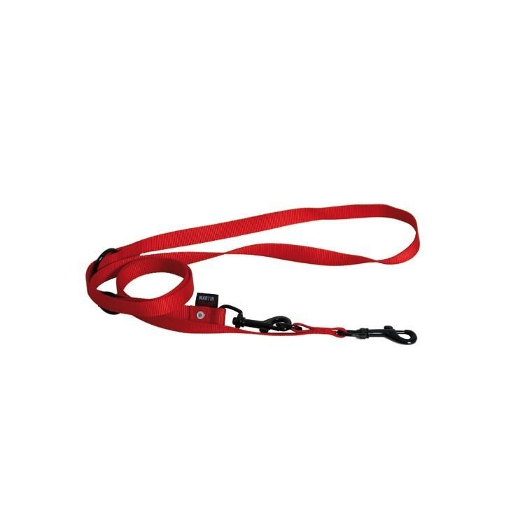 Laisse chien dressage 3pt 20 mm / 200 cm rouge 324122