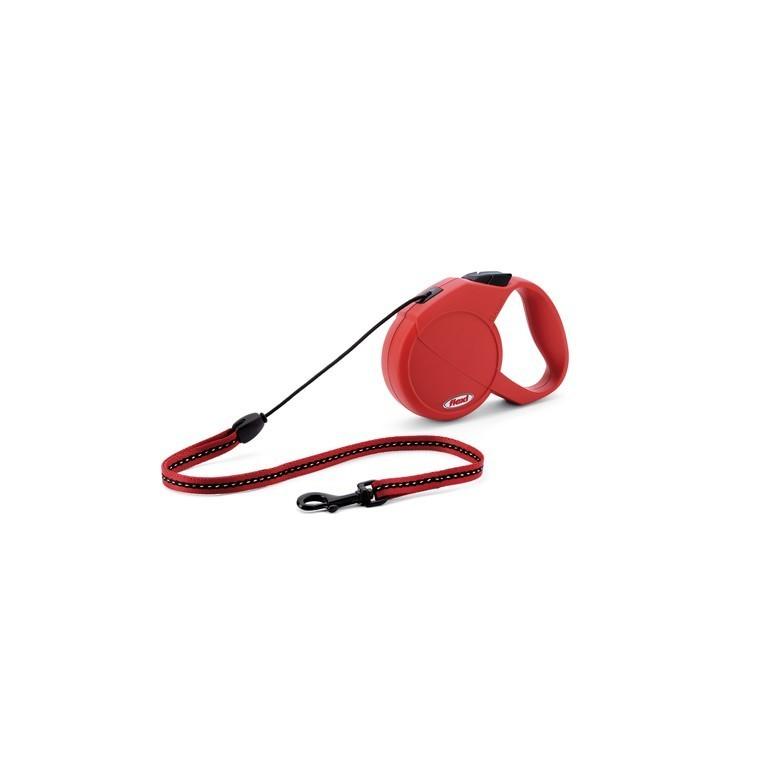 Laisse enrouleur Flexi Classic Basic 2 rouge 5 m 324235