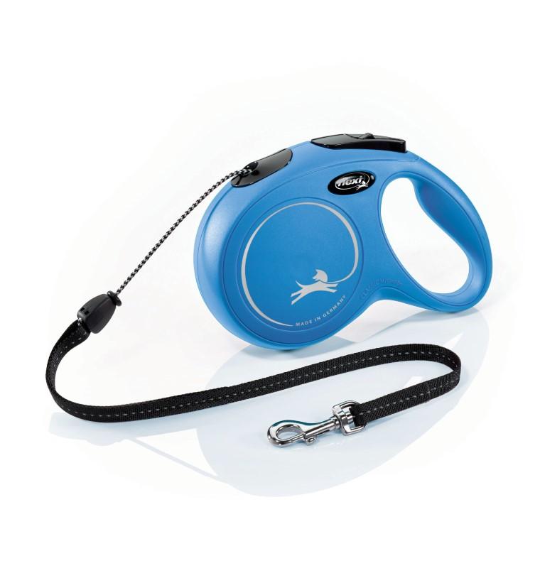 Laisse enrouleur Flexi Classic Long 2 bleu 7m 324246