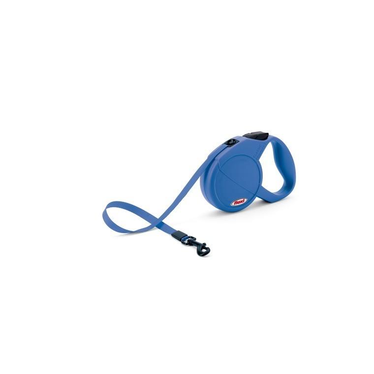 Laisse enrouleur Flexi Classic Compact 1 bleu 5 m 324254
