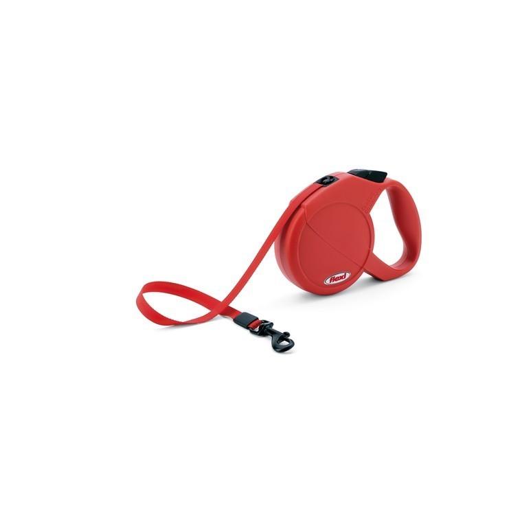 Laisse enrouleur Flexi Classic Compact 2 rouge 5 m 324255