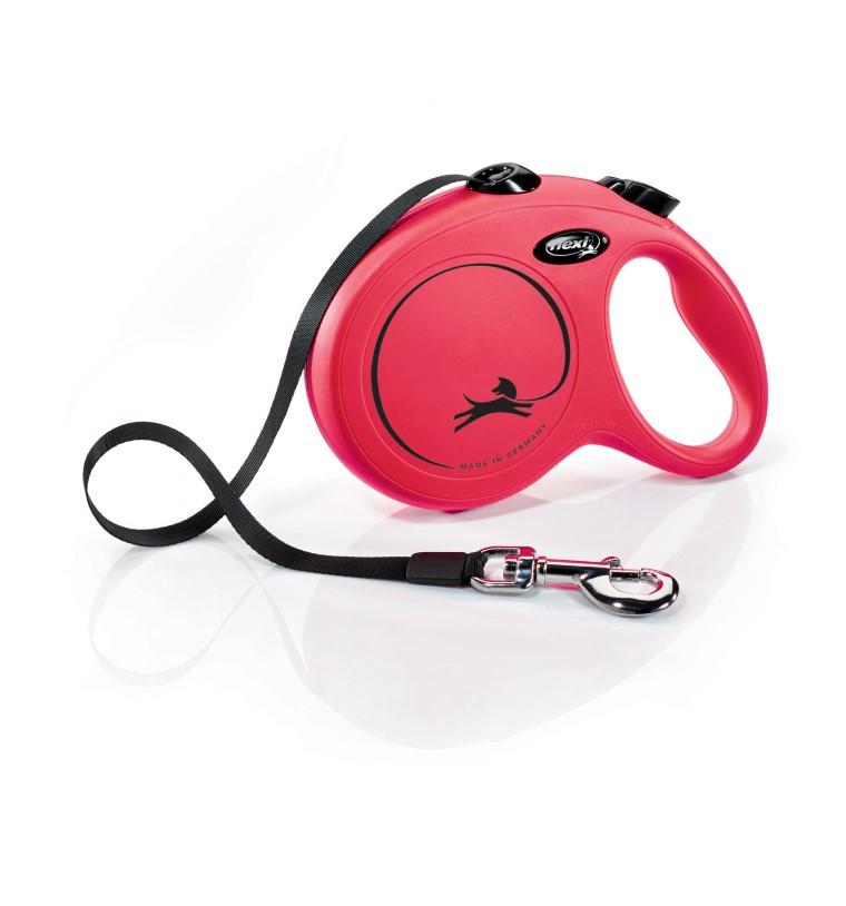 Laisse enrouleur Flexi Classic Compact 3 rouge 5 m 324259