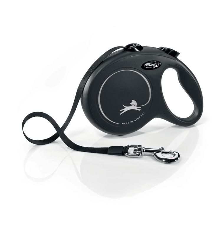 Laisse enrouleur Flexi Classic Compact 3 noire 5 m 324261