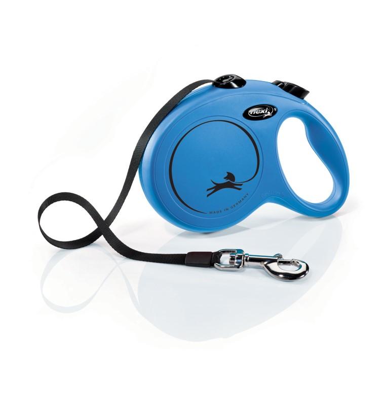 Laisse enrouleur Flexi Classic Compact 3 bleu 5 m 324262
