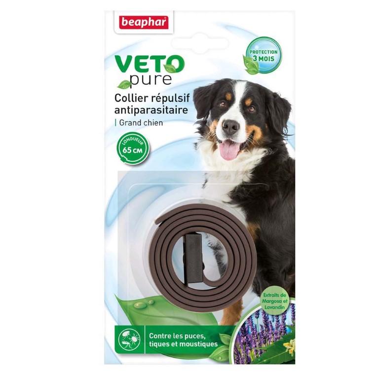 Collier antiparasitaire pour grand chien Beaphar® Veto Pure Marron - 65cm 32955