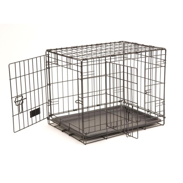 Cage transport 2 portes noir 61cm 330373