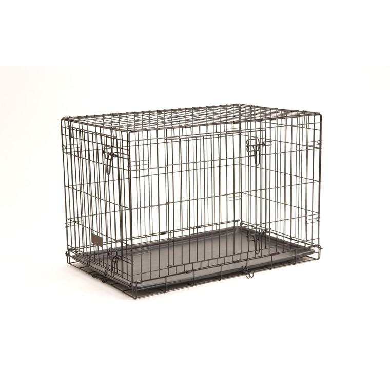 Cage transport 2 portes noir 91cm 330375