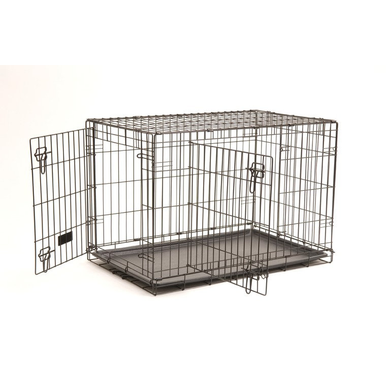 Cage transport 2 portes noir 121cm 330377