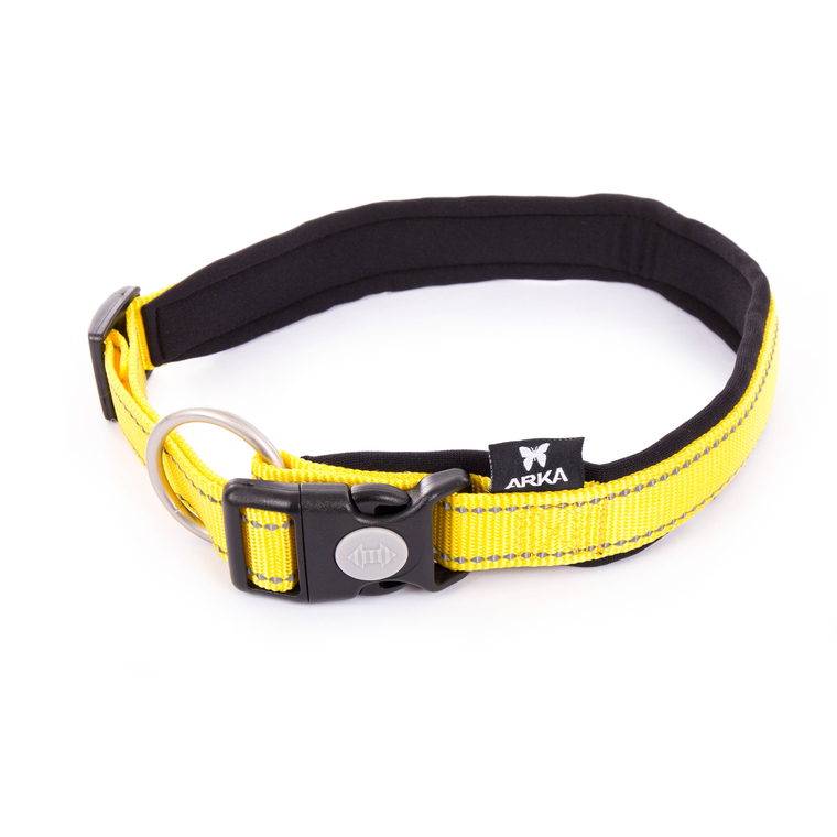 Collier Neo+ jaune pour chien 2,5x55/60 cm 334292