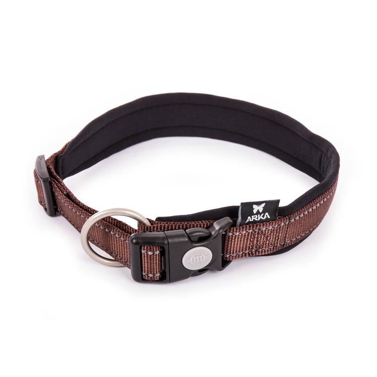 Collier Neo+ marron pour chien 2,5x55/60 cm 334297