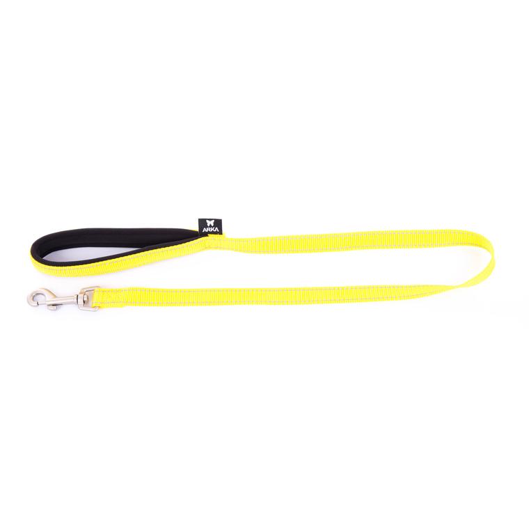 Laisse Neo+ pour chien coloris jaune 1,5x100 cm 334334