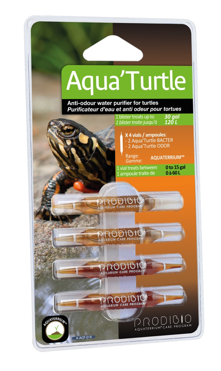 Traitement de l'habitat - Prodibio Aqua'Turtle - 4 ampoules 335080