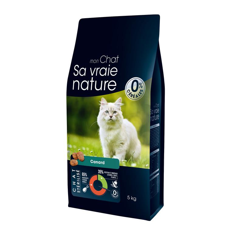 Croquettes Chat - Sa Vraie Nature sterilisé canard 5kg 335715