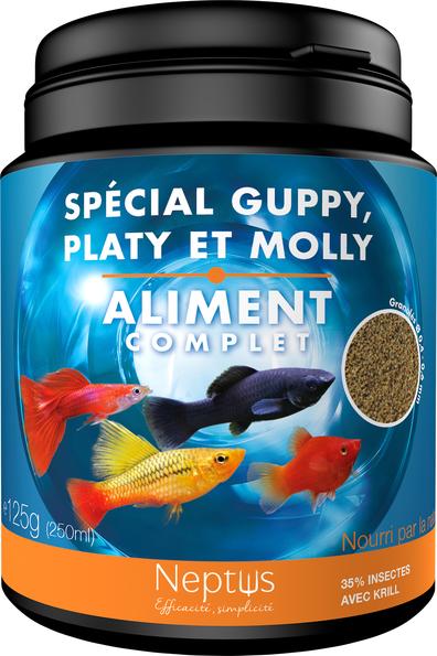 Alim. spécial guppy, platy et molly 250ml 343009