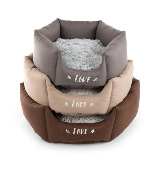 Corbeille Martin Sellier Igloo ronde Beige S - 40 cm 343404